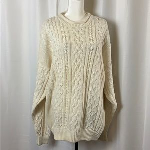 Bowen & Wright Large Comfy Off White Sweater